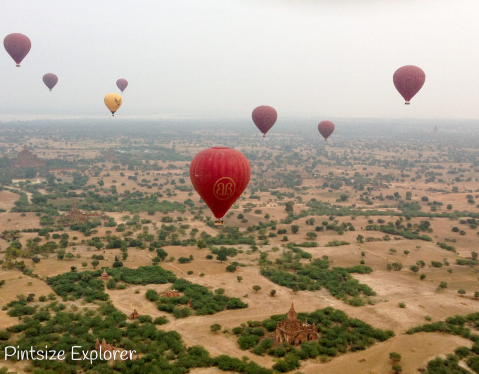 Hot Air Balloon Over Bagan, Burma